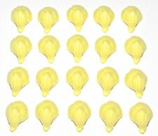LEGO LOT OF 20 NEW BRIGHT LIGHT YELLOW PONYTAILS HAIR WIGS PIECES