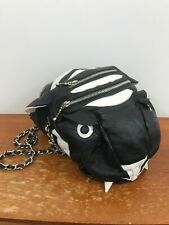 KTZ Kokon To Zai Black Leather Tiger Handbag