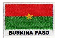 Écusson patch drapeau BURKINA FASO 70 x 45 mm Afrique brodé à coudre