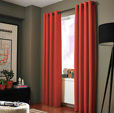 100% Blackout 2 Panels Lined Backing Heavy Thick Grommet Bay Window Curtain ADAM