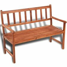 Classic Wooden Bench Acacia Wood Outdoor Seat Chair Patio Furniture Garden Porch