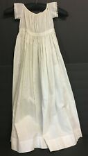 Vintage Girls Victorian Off White Cotton Long Petticoat Dress Gown