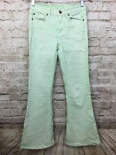 Madewell Jeans Womens 26x32 Flea Market Flare Lime Green Denim Boho NEW