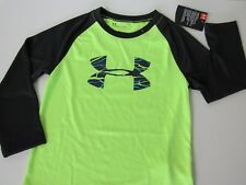 Under Armour Heatgear Boys Big Logo Long Sleeve Shirt size 4 New
