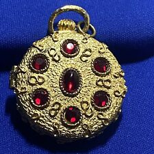 Vintage Mary Chess Pocket Watch Shape Gilt Compact Case for Solid Cream Perfume