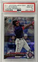 2017 Bowman Mega Box Chrome Prospects #bcp73 Victor Robles PSA Mint 10 Nationals