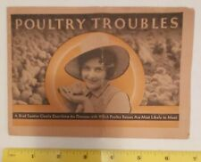 "*RARE VINTAGE (WATERLOO,IOWA) ""POULTRY TROUBLES- WALKO POULTRY REMEDIES"" BOOKLET"