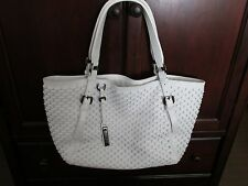 Burberry  large white leather handbag excellent used condition