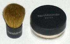 Bare Escentuals bareMinerals Foundation MATTE Sample & Mini Buki Brush-LIGHT-New