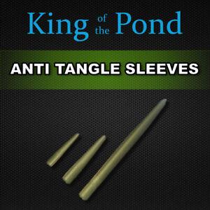 Green 20mm mini anti tangle sleeves x20 - carp fishing, carp rigs