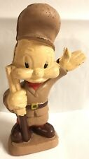 Antique Elmer Fudd Cast Iron Bank Warner Brothers Figure Statue Looney Tunes