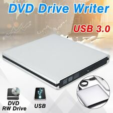USB 3.0 Slim Portable External DVD-RW CD-RW Combo Drive Burner Case For Laptop
