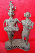 OLD AFRICAN TRIBAL Hand Crafted NATIVE TRIBE BRASS SCULPTURE FIGURES STATUE