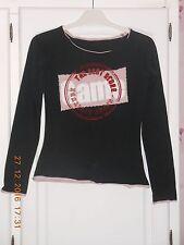 Tee shirt noir avec motifs 12 ans