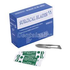 100PCS 10# Dental Surgical Scalpel Blades Carbon Steel Chirurgische Skalpellklin