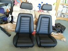 RECARO E21 E10 UPHOLSTERY SEATS KIT 320IS (2) GERMAN VINYL BEAUTIFUL NEW