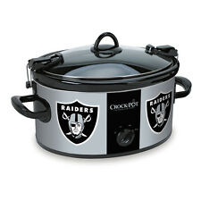 Oakland Raiders Crock Pot Slow Cooker NFL Football Party Sports Halftime Game