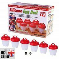 6PCS Food grade Silicon Egg Boiler Hard Boiled Egglettes Egg Cooker Kitchen Tool