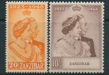 Zanzibar 1948 Royal Silver Wedding SG 333-334 MNH