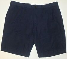 NWOT Men's 40 Brooks Brothers Navy Blue Cotton Linen Casual Shorts