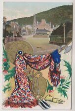 Aberdeenshire postcard - Bridge Street, Ballater - P/U