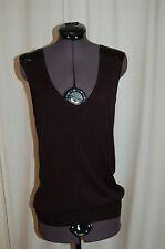 NWT GSP Professional Black Rayon Sleeveless Top Shirt Size 38