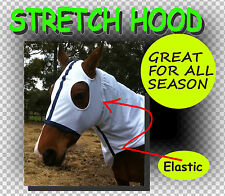 COMFORT~STRETCH~HORSE/PONY GREAT WHITE HOOD FREE P/AGE