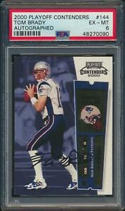 2000 Playoff Contenders TOM BRADY Rookie Patriots Autographed PSA 6