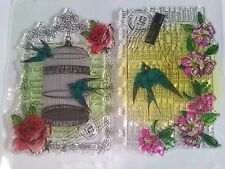 Vintage Calendar Birdcage Clear Stamp Card Making Scrapbooking Planner Steampunk