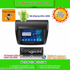 7''Android 4.4 Car DVD Stereo,GPS,Headunit,Wifi,Radio for Mitsubishi L200 +Frame