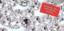 400 Genuine SWAROVSKI Crystals Clear Flatbacks No HotFix 20ss 5mm flat back 20