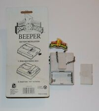 Mighty Morphin Power Rangers new yellow Beeper & one used white lot of 2 beepers