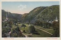 Postkarte - Thale am Harz / Eingang in das Bodetal