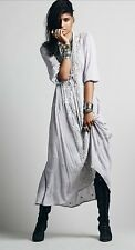 Free People Embroidered Fable Maxi Dress In Dove Gray Size M