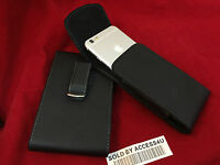 BLACK LEATHER VERTICAL CARRYING HOLSTER BELT CLIP POUCH CASE FOR IPHONE XS MAX