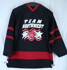 Canadian Hockey Jersey Team Northwest AAA Hockey Canada Red Black Mesh Size XL