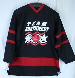 Canadian Hockey Jersey Team Northwest AAA Hockey Canada Red Black Mesh Size XL