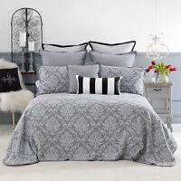 Bianca Fleur Grey Bedspread Set King|Queen|Double|King Single|Single Size