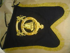 SPECIAL  OFFER  BAGPIPE  BANNER  HAND EMBROIDERED WITH ANY BADGE ON BOTH SIDES.