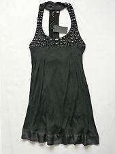 Women's TED BAKER jersey jewellery neck dress black color size 2 UK 8/10 BNWT