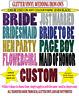 IRON ON GLITTER VINYL TRANSFER - PERSONALISED 9 COLOURS BRIDE HENS NIGHT WEDDING