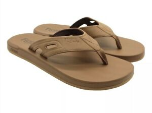 NWT Men's Flojos Brown TAN Hydro Flip Flops Size 10, 11, 12