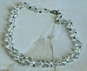 Vintage Art Deco Faceted Crystal Necklace