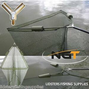 """42"""" Inch Large Carp Pike Fishing Landing Net With dual 2 Net Floats NGT Tackle"""