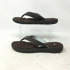 Nike Comfort Footbed Thong Flip Flops Sandals Memory Foam Brown Womens 8
