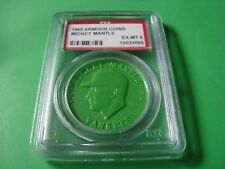 1960 Armour COINS #  MICKEY MANTLE   PSA 6 New York Yankees GREEN (065)