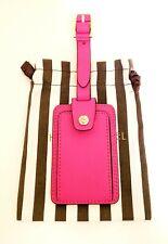 Henri Bendel West 57th Leather Bag Tag Pink w/Dust Bag (NEW w/tag!!!)