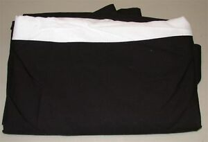 "Home Target Bed Skirt ~ Black ~ Twin ~ 14"" Drop"
