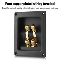 4 Copper Binding Post Terminal Cable Connector Speaker Spring Terminal Box Black