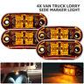 4X 12V/24V Orange LED Indicator Trailer Truck Lorry Lamp Car Side Marker Lights